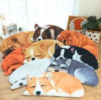 High quality Dog Puppy Paw Shape Placemat Pet Dish Bowl Dog Shape Placemat Pet cartoon rug Kitchen Floor Mats Welcome Doormat