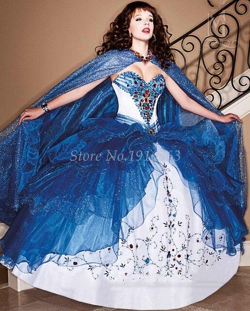 2016 azul lindo Quinceanera vestidos em camadas Ruffles doce 16 Vestido De Debutante Para 15 Anos