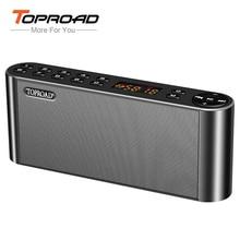 TOPROAD HIFI Bluetooth Speaker Portable Wireless Super Bass Dual Speakers Soundbar with Mic TF FM Radio USB Sound Box