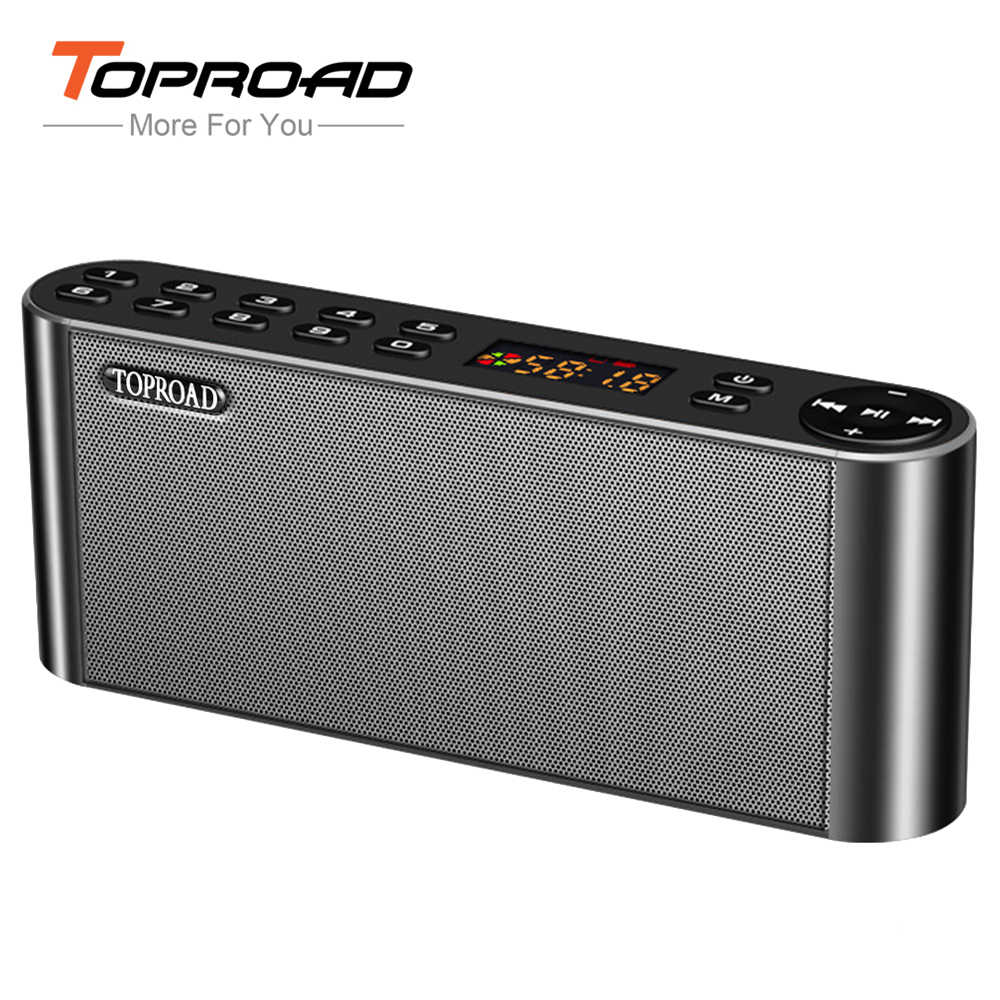 Hifi Bluetooth Toproad Hifi Bluetooth Speaker Portable Wireless Super Bass Dual Speakers Soundbar With Mic Tf Fm Radio Usb Sound Box