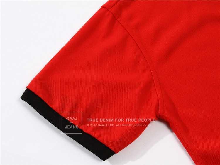 Gaaj Merek Terkenal 10 Warna 3XL Hijau Merah Biru Pink Pria Polo Shirt Slim Fit Kasual Pakaian Kemeja Lengan Pendek poloshirt 2VB4 #