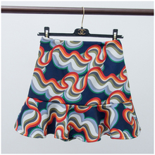 2016 spring print thick chiffon short skirt bust skirt ruffle fish tail skirt female bottoms skirt