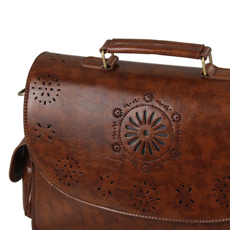 Worthfind 2018 Vintage Satchel Fashion Women Handbags Leather Brown Bag Messenger Bags Office Las Briefcase In Shoulder From Luggage