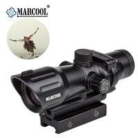 Marcool New 20mm 1x30 Rail Gun Accessories Riflescope Tactical Hunting Airsoft Optics Sniper Collimator Red Dot Scope Sight