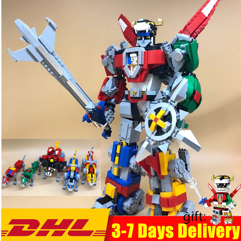 In Stock Defender of the Universe Voltroned Building Blocks Sets Kits Bricks Movie Kids Toy Marvel