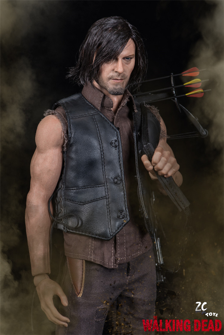 1/6 scale figure doll Norman Reedus The Walking Dead Daryl Dixon 12 Action figure doll Collectible model plastic toy gift 1 6 scale figure doll terminator3 rise of the machines fembot t x 12 action figure doll collectible model plastic toy
