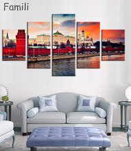 45Pieces New High Quality Russia Moscow Kremlin Art Prints Canvas Painting By City Picture Digital Purple Oil Style No Unframedl цены