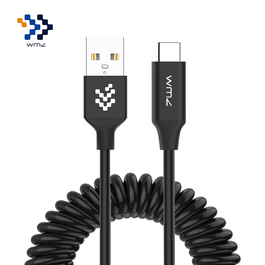WMZ 1.5M Type C USB Cable Adapter Stretch USB C Fast Charging Cable Spring Flexible Elastic Data For Huawei Xiaomi 5 Macbook remax rt c1 usb c to usb 3 0 fast data sycn charging cable