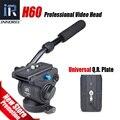 H60 slider Панорамный штатива Hydraulic fluid видеоголовка для монопод Manfrotto 501PL плиты совместимость Лучше, чем JY0506H