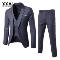 Men Formal Suits Slim Fit 3 Pcs Set Italian Office Party Costume Marriage Dress Tuxedos Terno