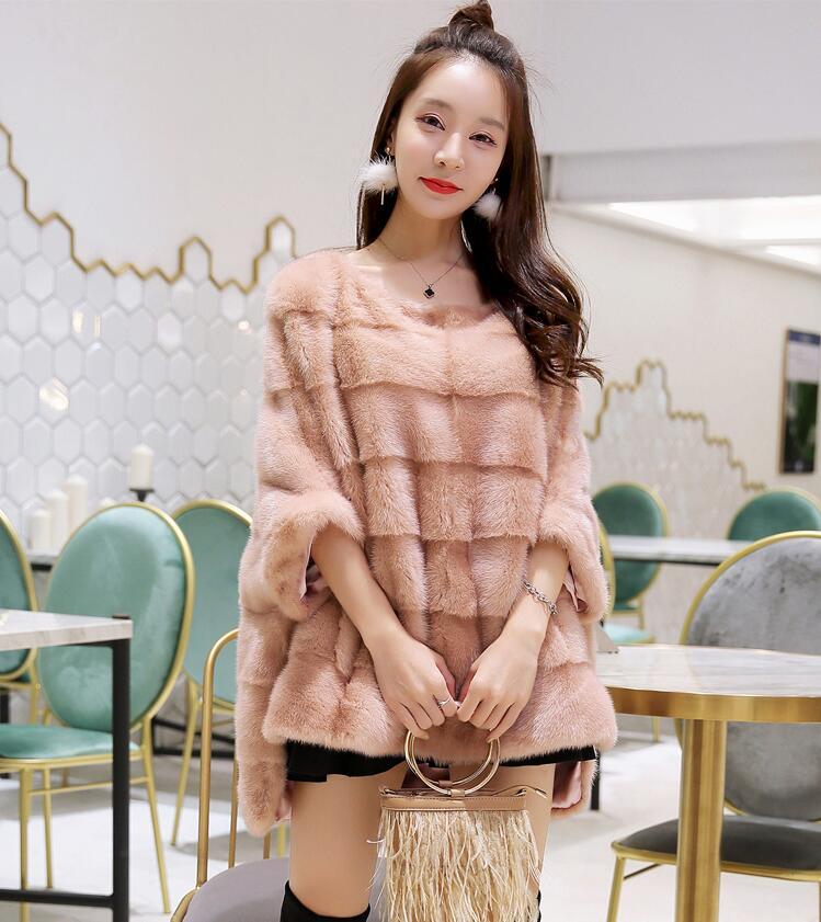 Nuevo abrigo de piel de visón real para mujer Invierno cálido y - Ropa de mujer - foto 4
