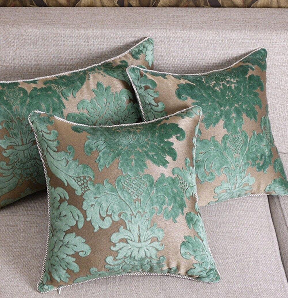 Бесплатная доставка! Современная Геометрическая зеленая декоративная подушка/Чехол almofadas, модная удобная наволочка для украшения дома