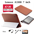 For  Lenovo A3300 protective holster A7-30 tablets dedicated ultra-thin cases by thirty percent Original leather Case cover