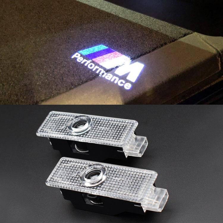 2 X Car Door Welcome Light LED Courtesy Lamp Projector Logo For BMW X3 E83 X5 E70 X6 E71 E87 E60 E61 E90 F20 F30 F10 F16 E92 E91