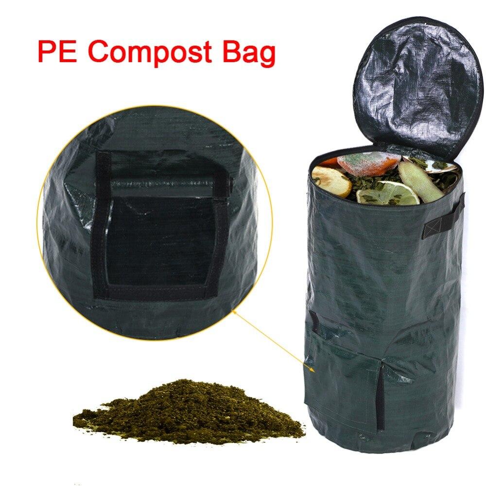 2 размера органических отходов кухня Сад Двор компост мешок окружающей среды pe ткань кашпо