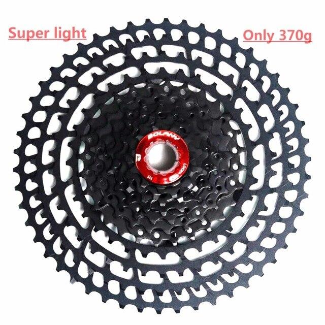 BOLANY VTT 11 Vitesse vélo vélo cassette Vélo De Montagne roue libre 11-50 t Pignons pour Shimano Super léger 370g