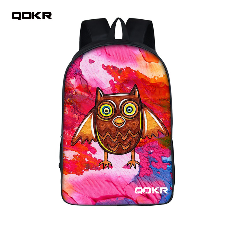 16 inch Cartoon Owl Student Backpack Cute Animal owl Print School Bag For Teenager Women Men Laptop Boys Girls Travel Bags