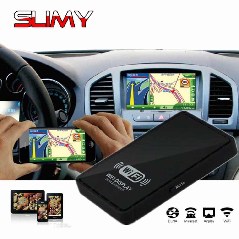 Slimy Car WiFi Display WIFI Mirror Box Mirror Link for Car Home Video Audio Miracast DLNA Airplay Screen Mirroring for IOS Stick