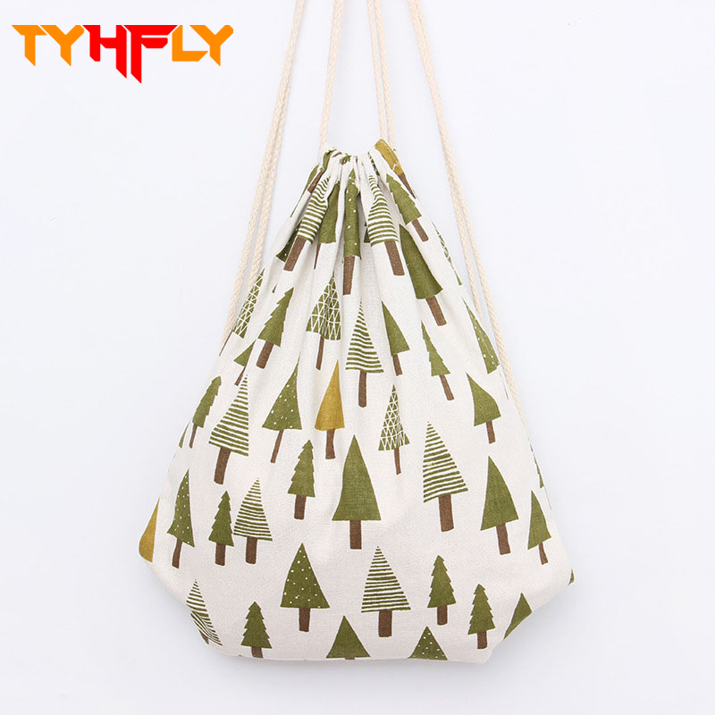 Women canvas drawstring backpack 3d printing Reusable Shopping Bag Unisex Foldable Cotton draw string bags Hot Sale pouch P35 new fabulous unisex graffiti backpacks 3d printing bags drawstring backpack wholesale sep09