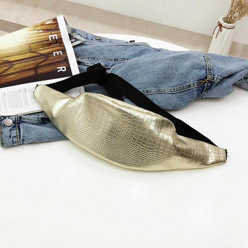 Women\\'S Crocodile Leather Messenger Shoulder Bag Women\\'S Pure Color Zipper Bags Breast Bag Dumpling Bag #F