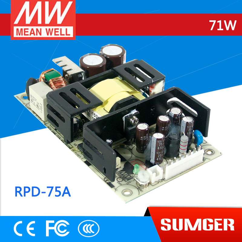 все цены на [Sumger2] MEAN WELL original RPD-75A meanwell RPD-75 71W Dual Output Medical Type Switching Power Supply онлайн