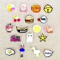 Hot anime pins for clothes kawaii icon acrylic badges fashion clothes badge backpack pin button food fruit acrylic brooch un