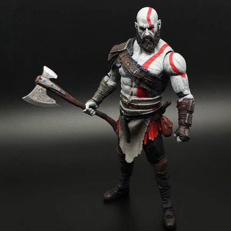 23 cm NECA Game God of War 4 Kratos Action Figures Toys Collectible PVC Model Toy Gift For Kids N298 12 neca toys god of war action figures 2 infamous kratos figure pvc action figure model toy gw005