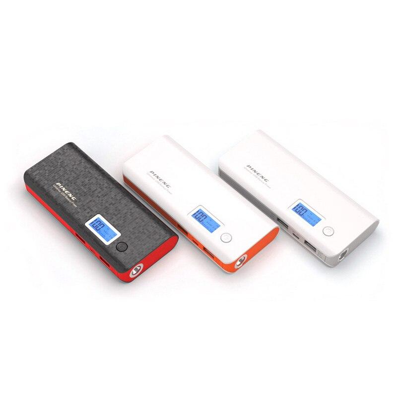 imágenes para Pineng-968 banco de la energía 10000 mah batería externa portátil móvil cargador rápido led dual usb powerbank para el iphone samsung xiaomi