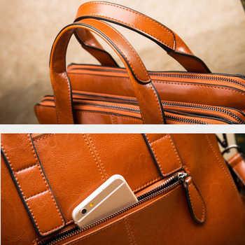 DCOS-Leather Ladies HandBags Women Totes Messenger Bags Hign Quality Designer Luxury Brand Bag