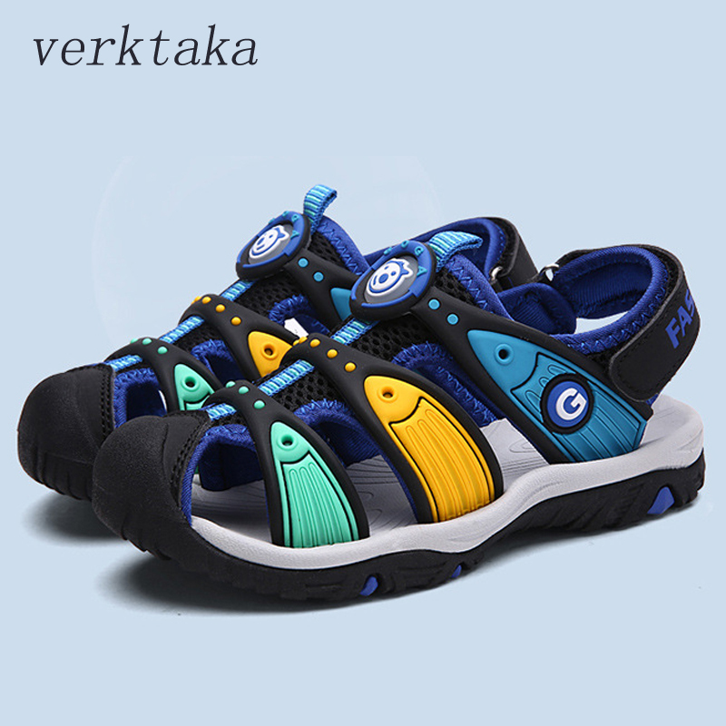 Summer new Boy Sandals High Quality brand Boys Beach Sandals Kids Closed-toe Shoes for Toddler Baby Mixed color Children Sandals