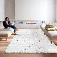 Простые марокканские ковры для гостиной мягкий ковер для спальни современный скандинавский меховой ковер Детский ковер Диванный кофейный