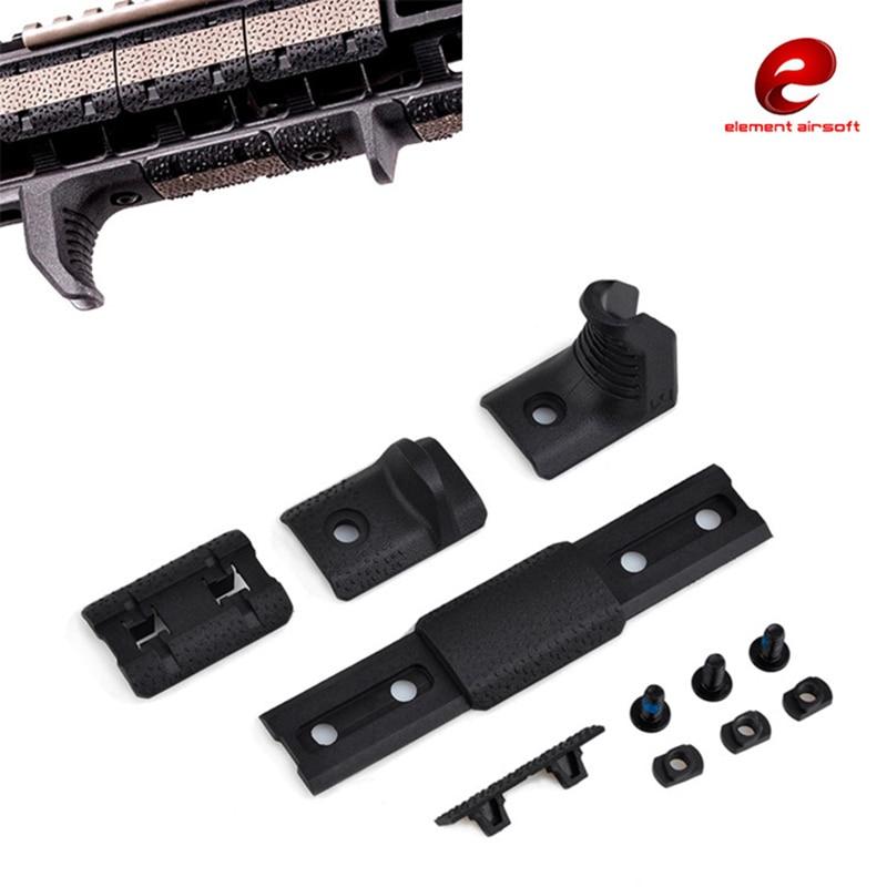Airsoft MLOK Main Arrêt Kit pour M-LOK Système de Fixation 4 Pcs/ensemble Fit Free Float Handguard eMag Pul En Plastique Ferroviaire Couverture