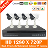 4CH Full HD 1080P H 264 NVR 4Pcs Outdoor Waterproof 1280 720P Security Surveillance MiNi IP