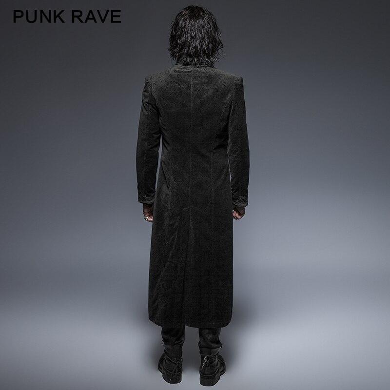 Rave Punk Motif Magnifique Rétro Longs Gothique Fleur Style Manteaux wPn0O8k