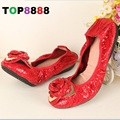 2016 New Fashion Women Shoes Elegant Genuine Leather Flats OL Flower Design Printing Leather Shoes Famous Brand Girl Shoes F001