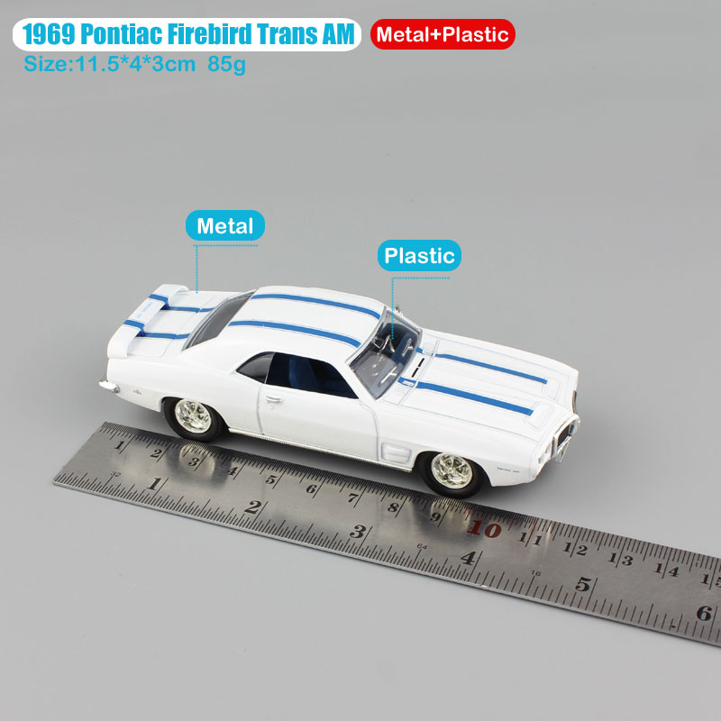 1:43 Scale mini Pontiac 1969 Firebird trans AM vintage metal old car ...