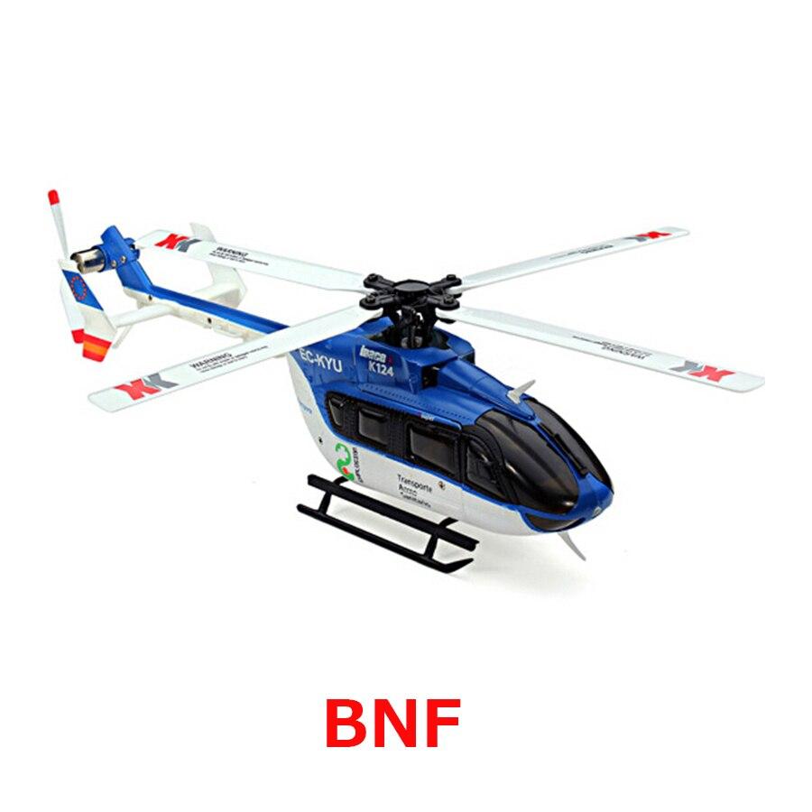 D'origine XK K124 BNF Sans tranmitter EC145 6CH Brushless moteur 3D 6G Système RC Hélicoptère Compatible avec FUTABA S-FHSS