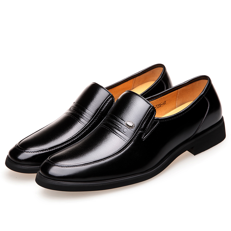 MUHUISEN Men Loafers Fashion Soft Leather Business Dress Shoes Male - Men's Shoes - Photo 5