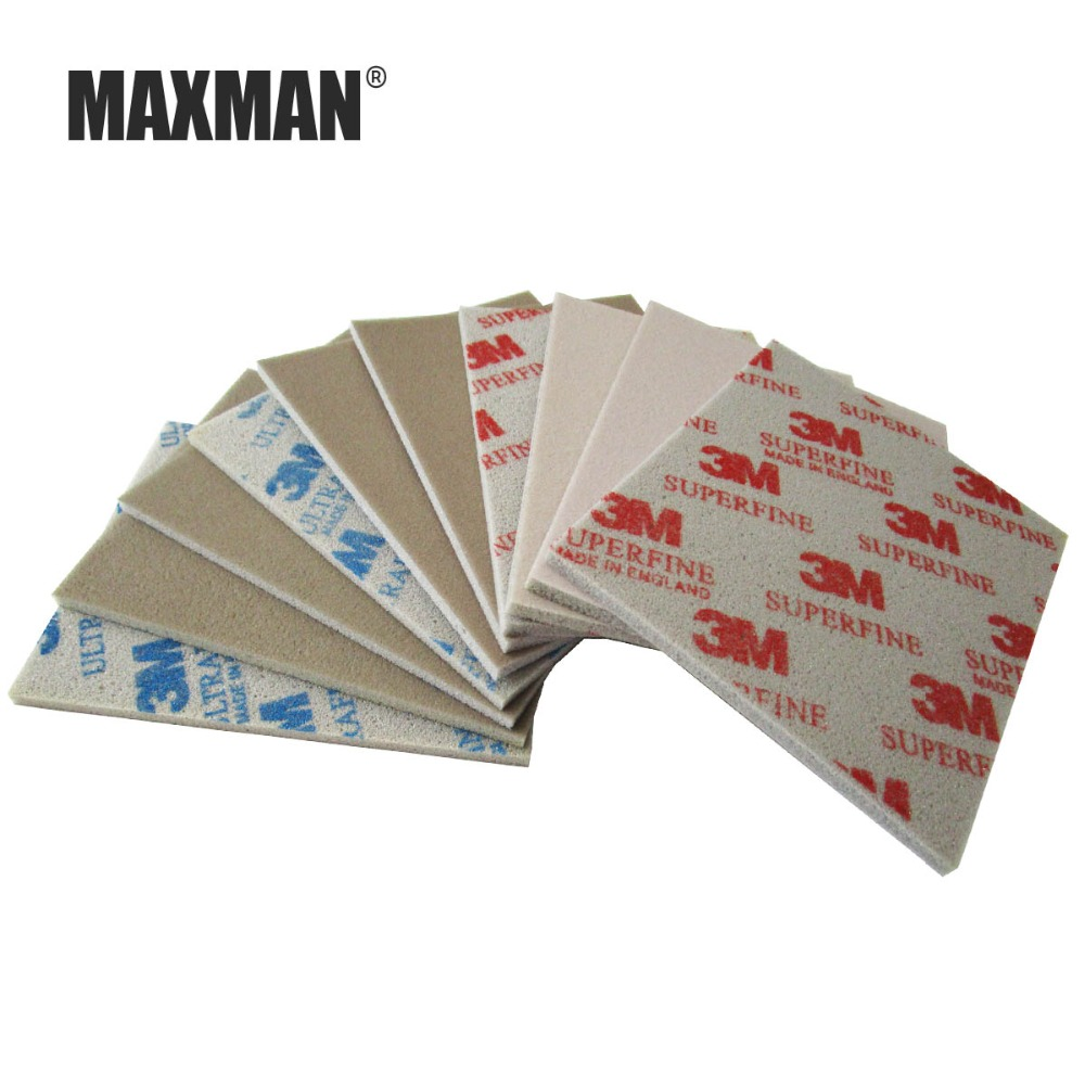 MAXMAN 3m sponge sandpaper 600 800 1000 Grinding and polishing wire drawing Abrasive Tool accessories Hand polished One pack in Abrasives from Tools