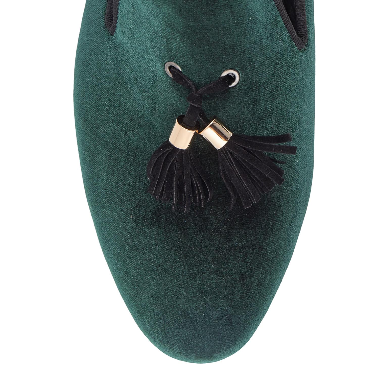 rojo Harpelunde Caliente Zapatos azul De Hombres 6 verde 14 Venta Negro Mocasines Terciopelo Verde Tamaño RR5rw6qn