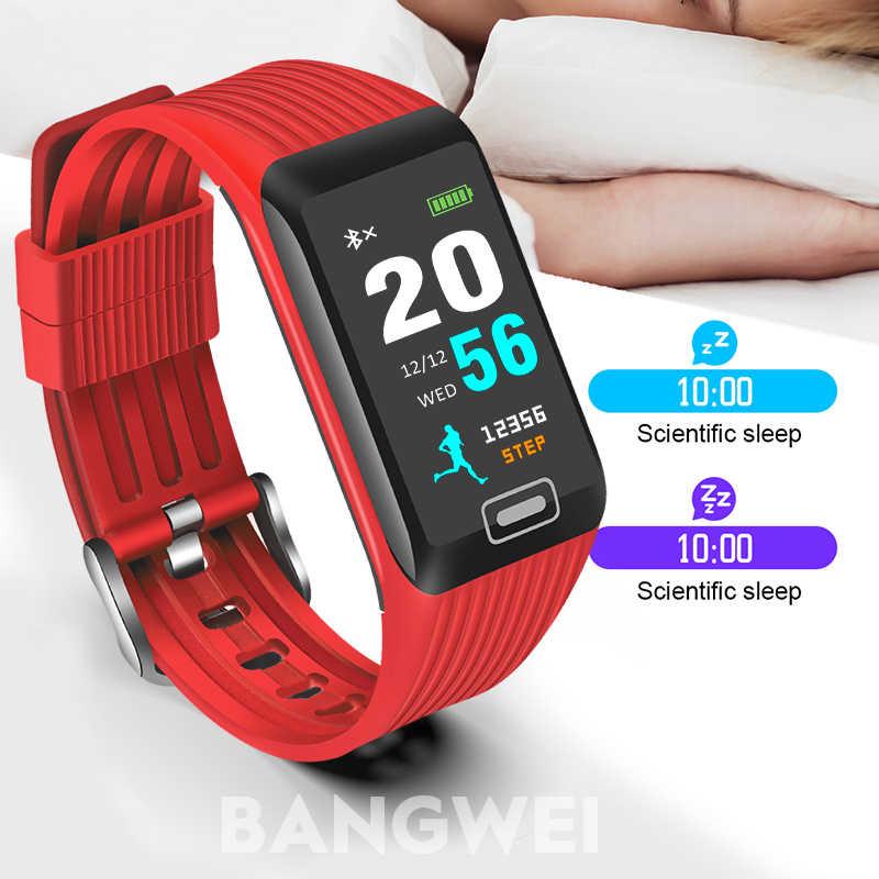 9647623b0 ... BANGWEI 2019 New Smart Watch Men Women Fitness Tracker Heart Rate Blood  Pressure Monitor Smartwatch Sport ...