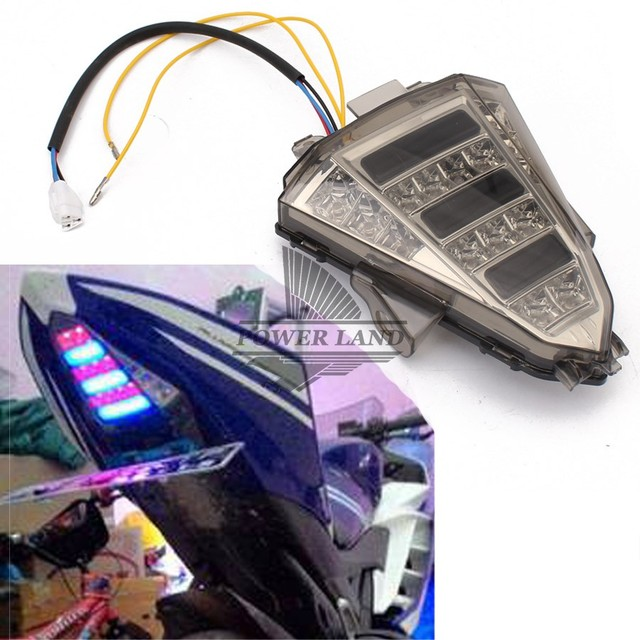 Aliexpress com : Buy for Yamaha R15 2013 2016 Motorcycle Rear LED Tail  Lights+Turn Signal Brake Stop Indicator Modify Integrated Light Red+Blue  1pcs