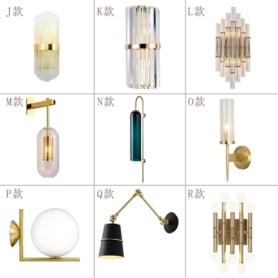 Italy Design Wall Scone luminaire Black/Gold Bedroom Bedside Lamp light mirror Home Decoration wall lamps indoor modern Bathroom