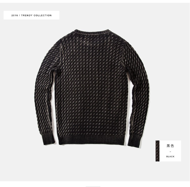 Aolamegs Men Sweater Fashion Casual Solid Color Knitting Pullover 2016 Autumn High Quality Simple Wild O-Neck Knitted Sweaters (17)