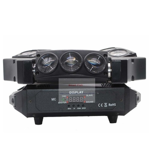 Image 2 - ขายร้อน! 1Pcs Moving Head Light มินิ LED Spider 9X3W RGB สีลำแสง 12/43 DMX Channel Fast การจัดส่ง