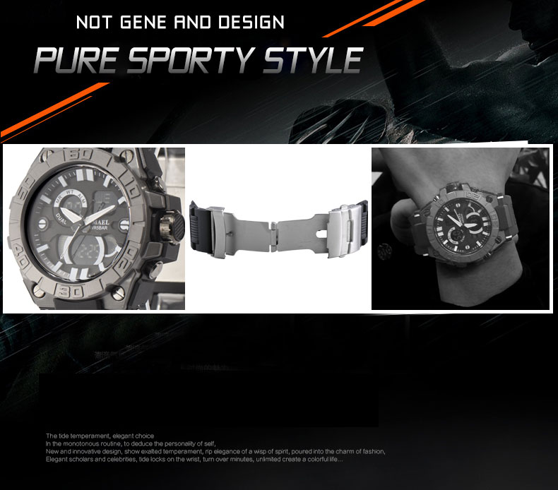Smael esporte masculino relógio de pulso masculino