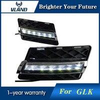2PCS LED Daytime Running Light DRL For Mercedes Benz GLK 300 GLK350 2008 2012 White Yellow