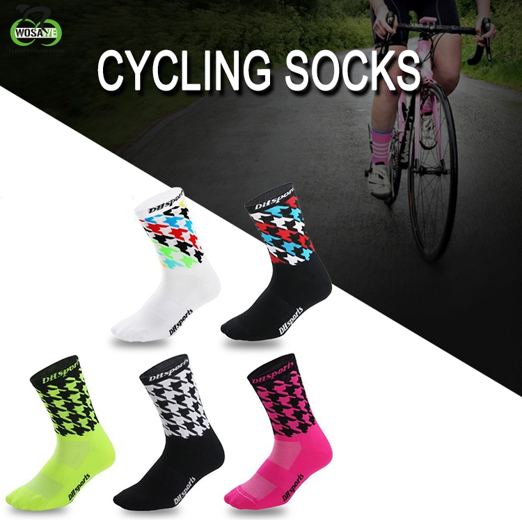 Women Men MTB Cycling Riding Socks Basketball Running Sport Breathable Sock New.