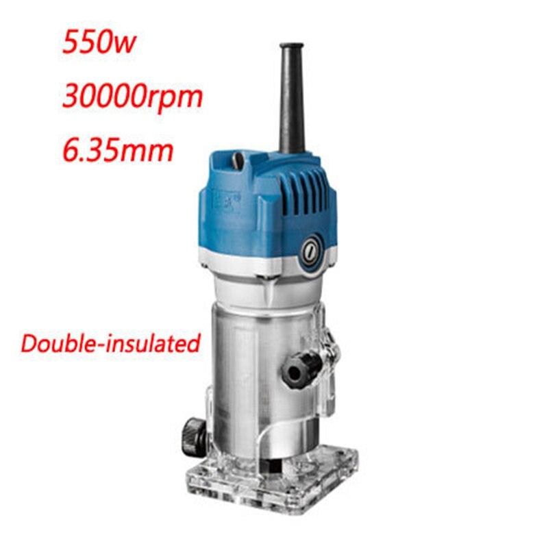 1/4 tondeuse 6.35mm électrique coupe-bois 550 w tondeuse électrique 220-240 v bois routeur électrique bord en bois (Double-isolé)