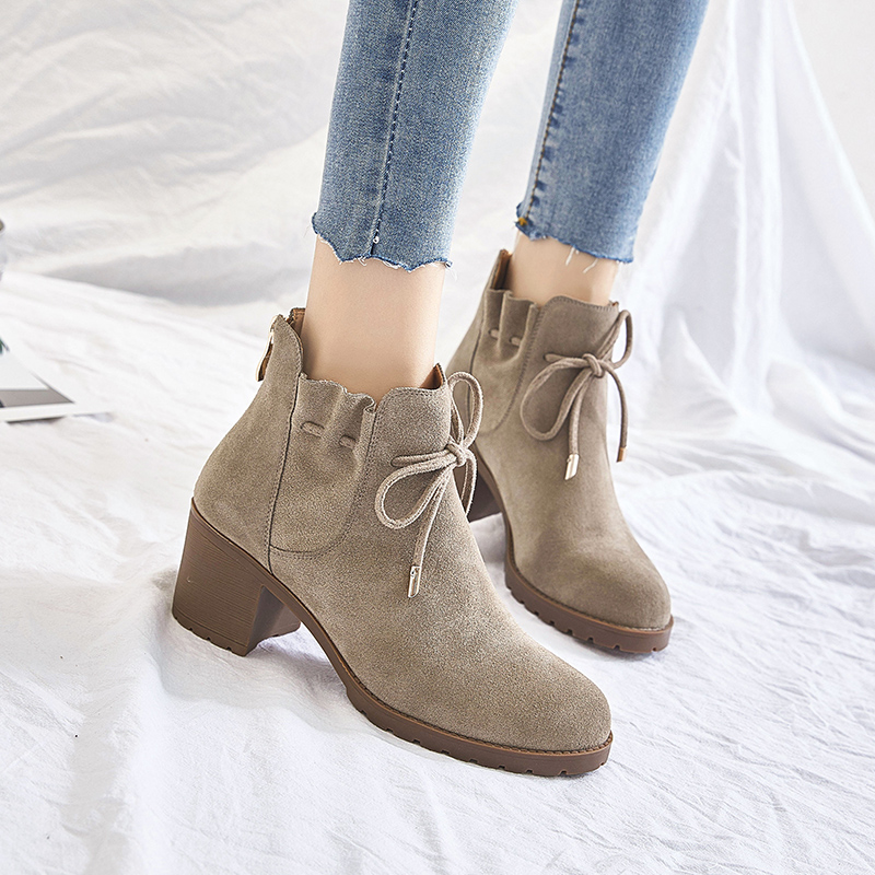 MYCOLEN Genuine Leather Women Cozy Chelsea Boots Luxury Brand Winter Warm Short Ankle Boots Martin Shoes Woman Schuhe Damen